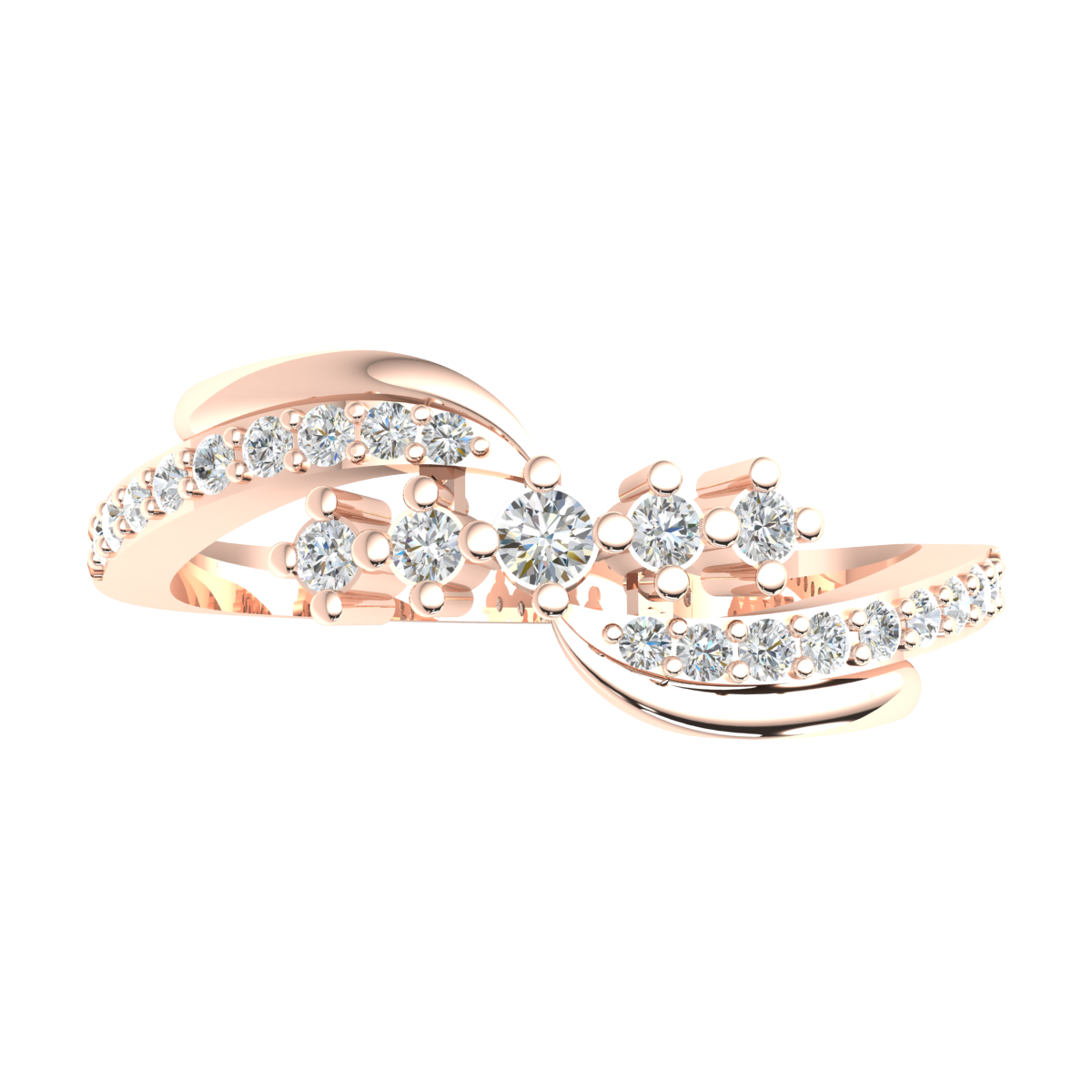 Details about  /10k Gold 0.25ct Round Cut Diamond Engagement Ring For Women Five Stone GH SI1